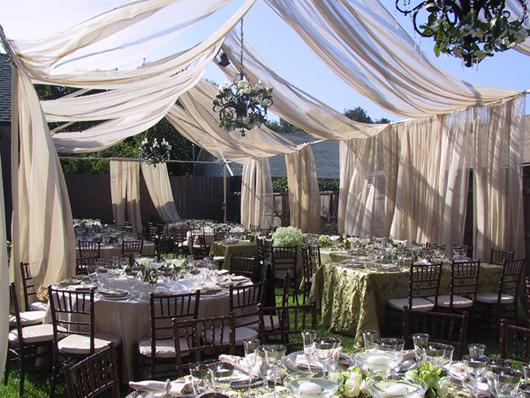 Elegant Backyard Wedding Reception secrets to planning a backyard wedding | priscilla chan